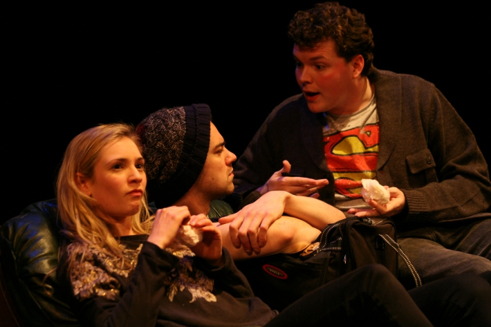 Josie Catherine, Jack Baggs and Daniel Hall in Loot by Janice Hallett