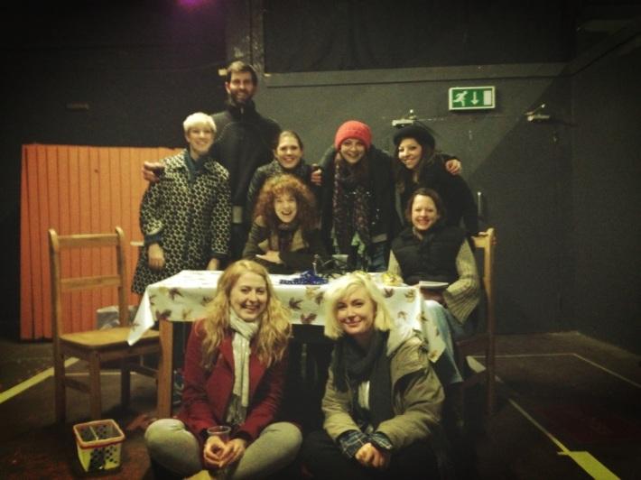 The Hot Dog Team: (standing l-r) Emma Bailey, Ryan Anthony-Jones, Faye Merralls, Penny Lisle, Sarah Kosar, (seated l-r) Tessa Hatts, Rebecca Crankshaw, (front l-r) Steph Lodge, Keziah Warner